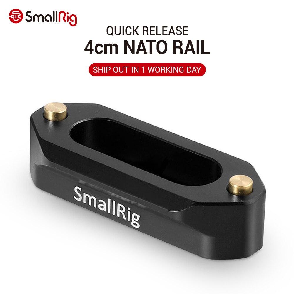 Carril de seguridad de liberación rápida para cámara pequeña de 4cm y 1,57 pulgadas de largo con tornillos de 1/4 pulgadas para manija Nato EVF Attach - 1409