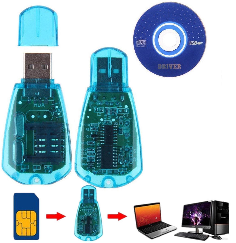 Hot sale ! Blue SIM Card Reader Copy/Cloner/Writer/Backup Kit SIM Card Reader GSM CDMA + CD Cellphone SMS Backup
