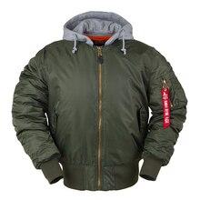 2019 aw hiver bomber vol veste MA-1 avec capuche streetwear vêtements hommes vêtements hip hop baseball letterman surdimensionné universitaire