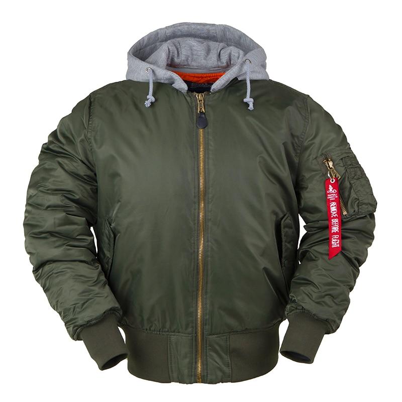 2019 chaqueta bomber de invierno MA-1 con capucha ropa de calle ropa de hombre hip hop béisbol letterman oversity varsity