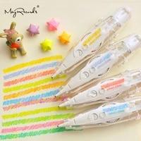 new style kawaii crayon fluorescent correction tape diy creative stationery cute decoration pen diary handbook school supplies