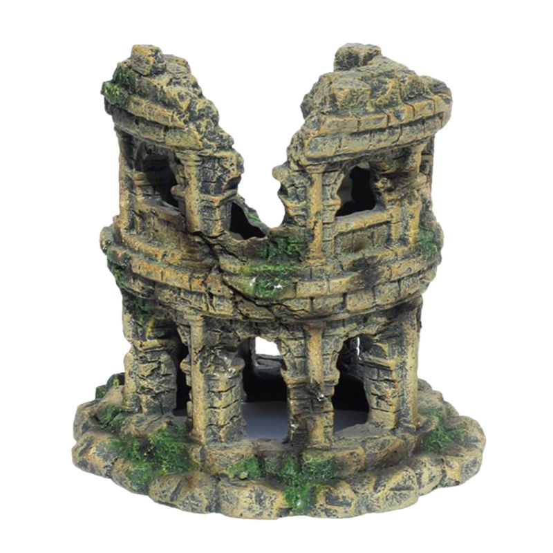 Coliseo acuario paisajismo del tanque de peces decoración Vintage casa escondite de resina para criar gambas cueva escondite refugio