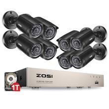 Zosi 8ch sistema de câmera de segurança em casa 1080n hdmi tvi dvr 8 pces 720 p/1.0mp ao ar livre cctv câmeras de vigilância de vídeo dvr kit