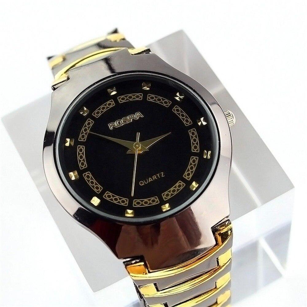 ¡Superventas! Reloj de pulsera de acero de tungsteno de estilo Titán de lujo para hombre y mujer, reloj de cuarzo Unisex Watc
