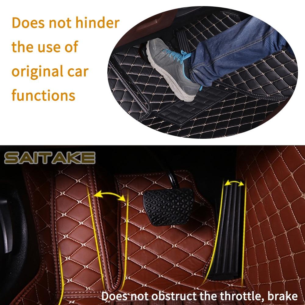 Leather Car Floor Mats For BMW Audi Mini Chevrolet Dodge Toyota kia Customization Dedicated Link Foot Cover Auto Carpet enlarge