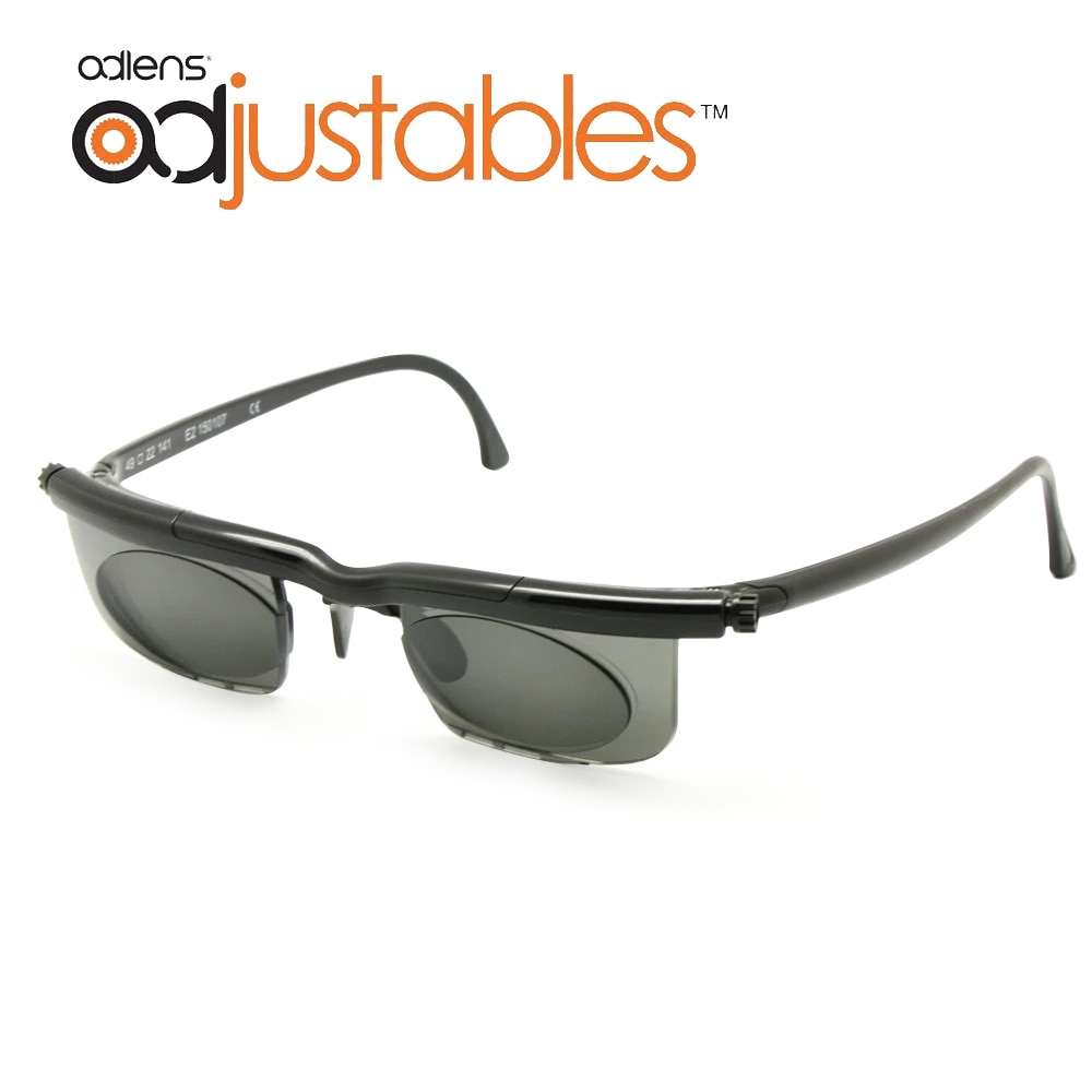 Adlens Sundials Frame Tinted Optical Sunglasses Variable Strength -6D to +3D Myopia Magnifying Anti-