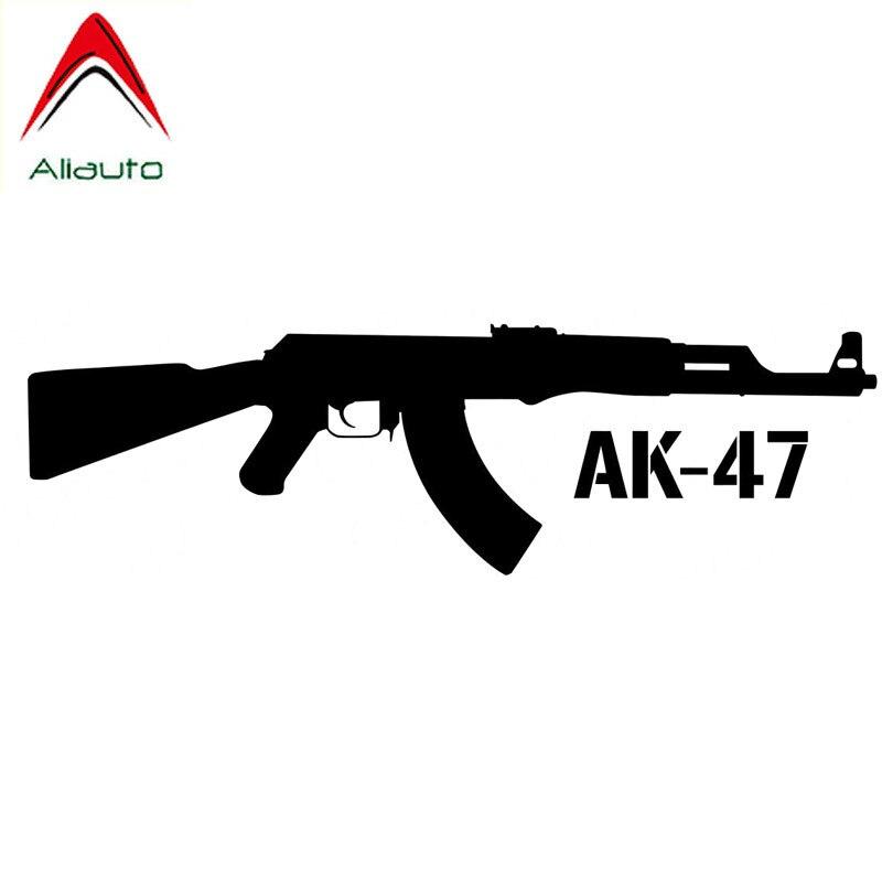 Aliauto calcomanía del coche de personalidad pistola de AK-47 de estilo automático calcomanía de vinilo para Mazda 6 Peugeot 206 Golf 7 Kia, 15cm * 4cm