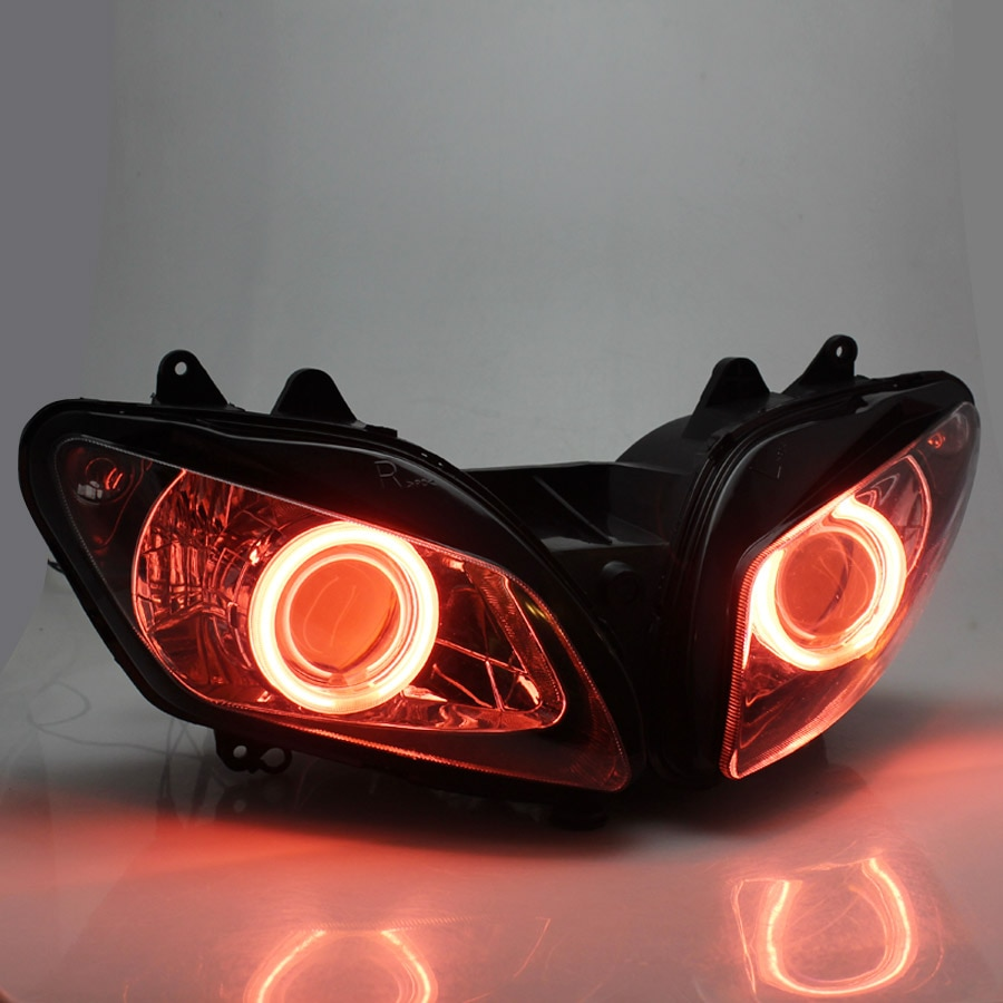 جديد مخصص الجبهة كشافات رئيس ضوء مصباح كشافات الجمعية الأحمر عيون الملاك لياماها YZF YZF R1 2000-2001