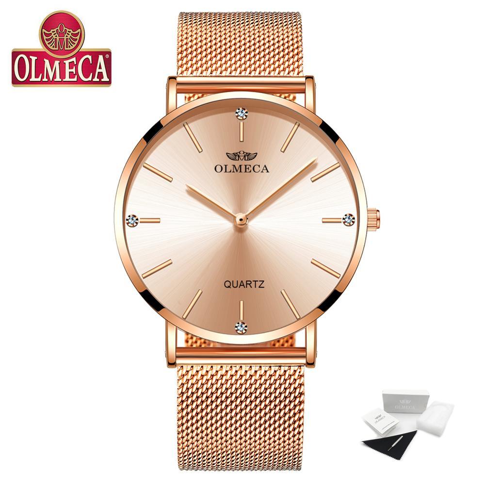 OLMECA Top Brand Luxury Watch Fashion Relogio Feminino Wrist Watch Water Resistant Women's Watches Drop-Shipping Dress Watches enlarge