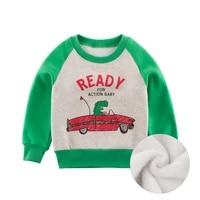 new print pullover tee autumn winter kids sweatshirt tops long sleeve t shirt boys girls child baby clothes