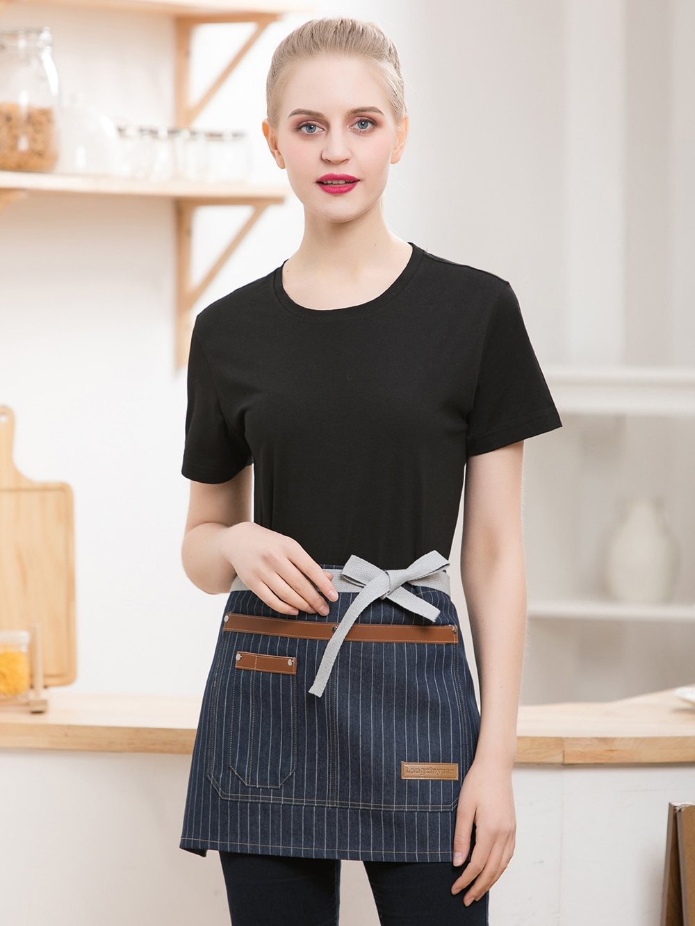 High Quality Hot Sale Chef Aprons Kitchen Hotel Coffee Shop Bakery Waiter Aprons with Pockets Cook Work Wear Chef Uniforms apron geometric style hot sale high quality cotton waterproof women aprons adjustable sleeveless kitchen cooking aprons
