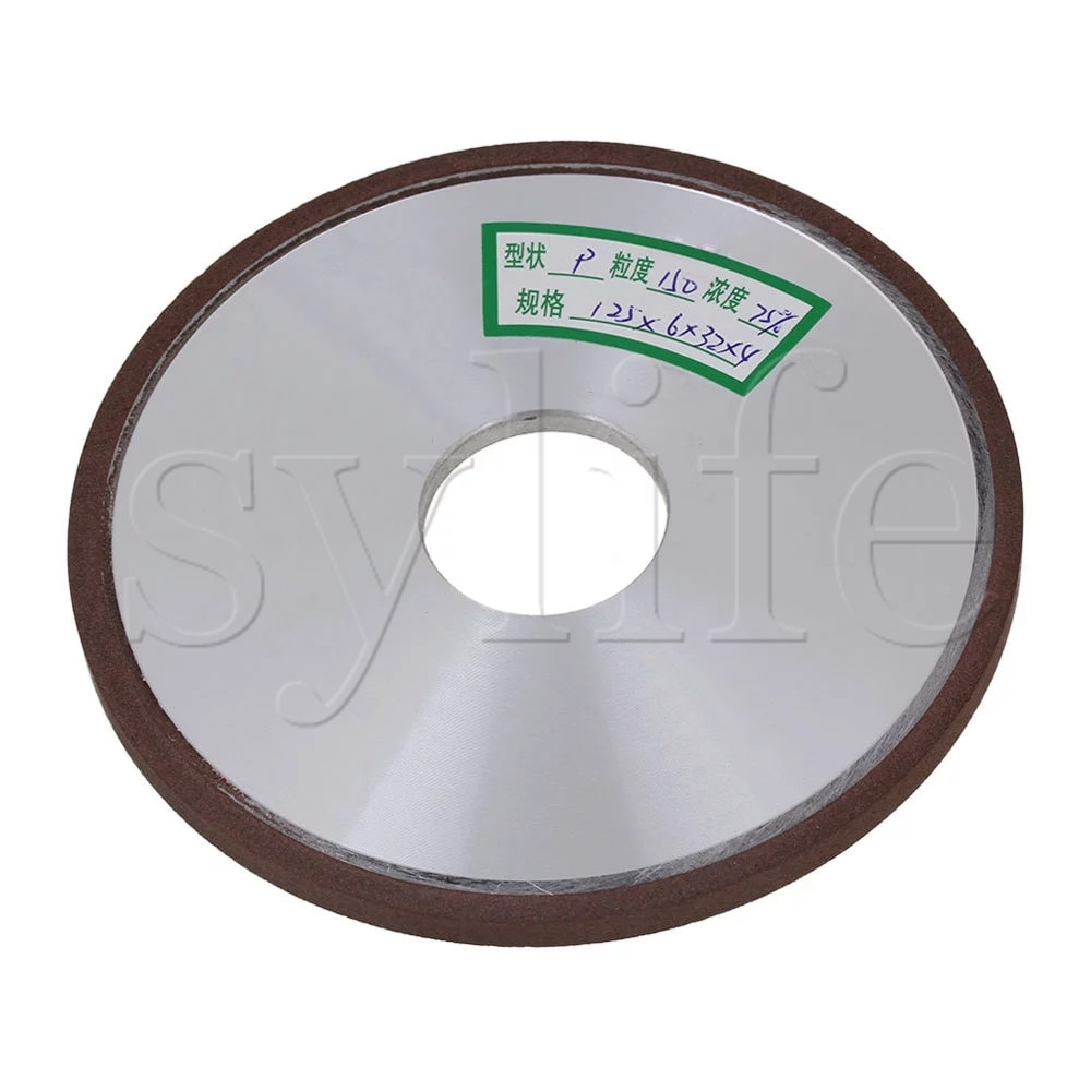 125mm diamante aluminio resina disco paralelo molienda grano 150 # para Snagging