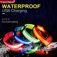 led dog collar usb rechargeable dog collar electronic waterproof night safety collar perro led glowing luminous collars for pets