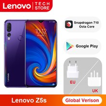 Küresel sürüm Lenovo Z5s Snapdragon 710 Octa çekirdek 64GB 128GB Smartphone 6.3 inç AI üçlü arka kamera Android P cep telefonu
