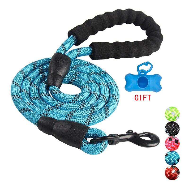 Прочный нейлоновый поводок для собак, цветной поводок для собак 1,5 м, поводок для прогулок, поводок для собак, поводок для собак