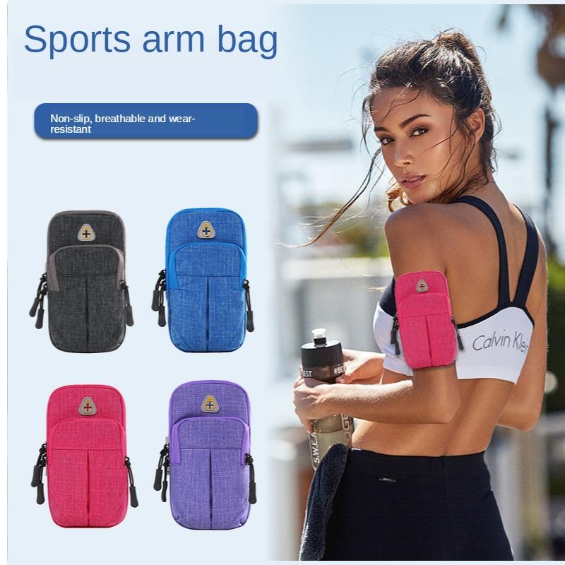 "Bolsa de doble bolsillo para deportes para correr, funda para teléfono, cartera, funda para teléfono, bolsa para exteriores, funda para cinturón de gimnasio para iPhone samsung 6,5"""