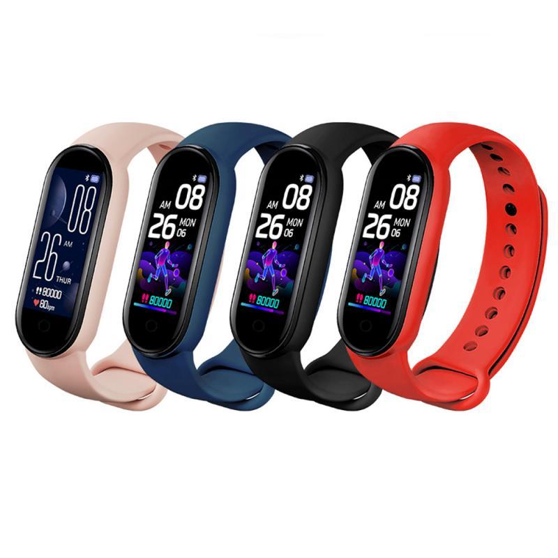 M5 Smart Band Bracelet IP67 Waterproof Smarthwatch Blood Pressure Fitness Tracker Smartband Fitness Wristbands For Adriod IOS
