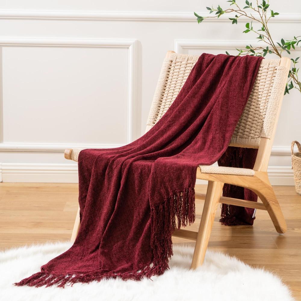 Battilo-بطانية محبوكة من قماش الشانيل ، 50 × 60 بوصة ، رقيق ، ديكور داخلي ، سرير ، أريكة ، كرسي ، أريكة ، ديكور منزلي