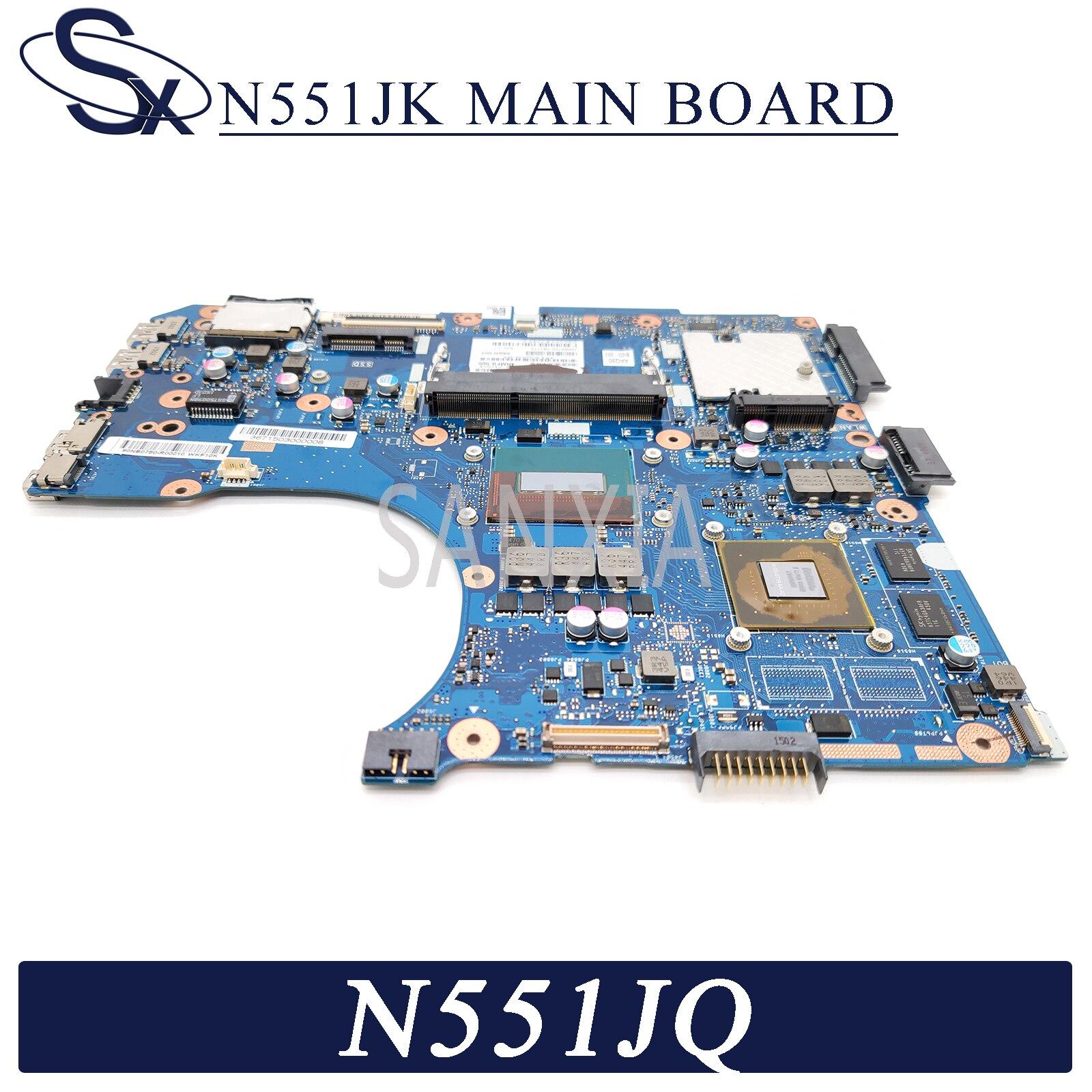 KEFU N551JK Laptop motherboard for ASUS N551JQ N551JB G551JK G551J N551J original mainboard I7-4710HQ GTX845M-2GB