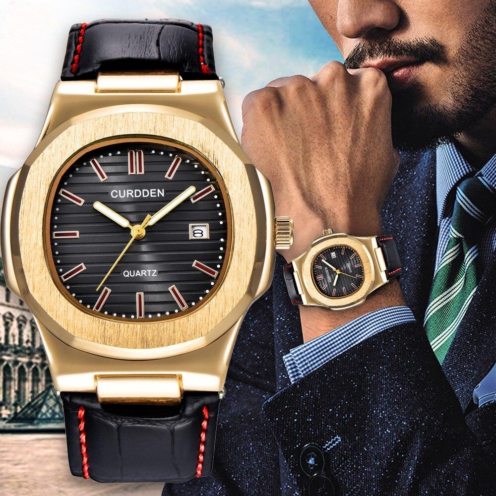 Xinew relógio de luxo famoso masculino relógios de negócios relógio masculino moda quartzo relógio de ouro relogio masculino novo quente
