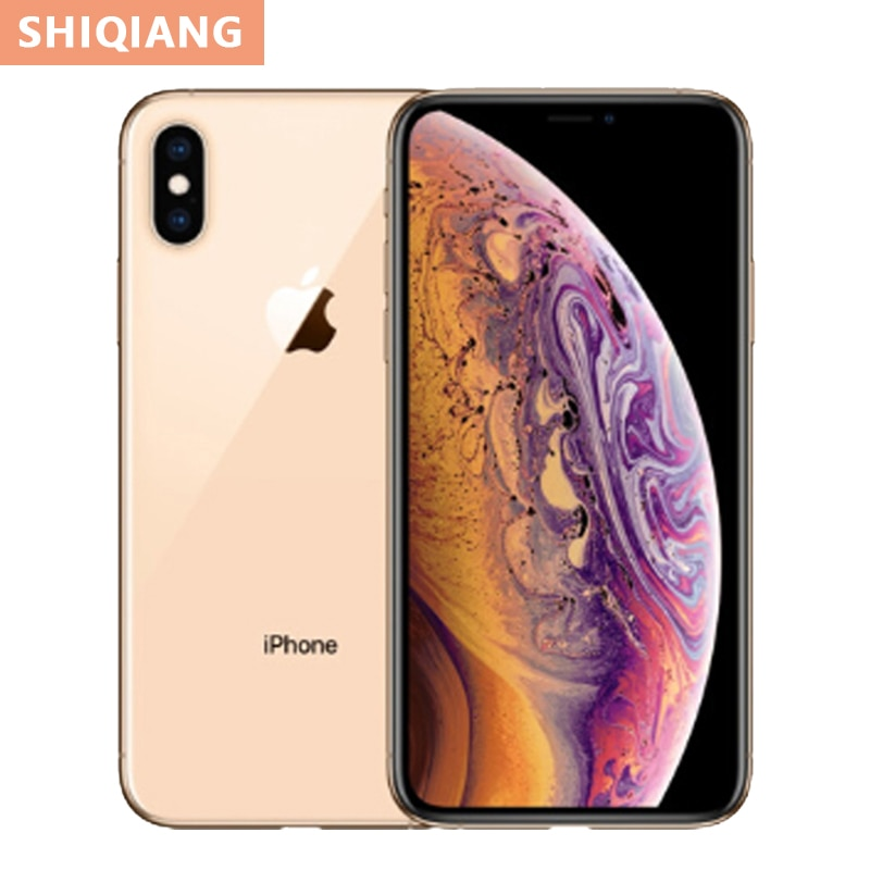 Перейти на Алиэкспресс и купить Оригинальный iPhone XS Max, шестиядерный процессор, 64 ГБ/256 ГБ, полноэкранный смартфон 6,5 дюйма, водонепроницаемые мобильные телефоны с задней кам...