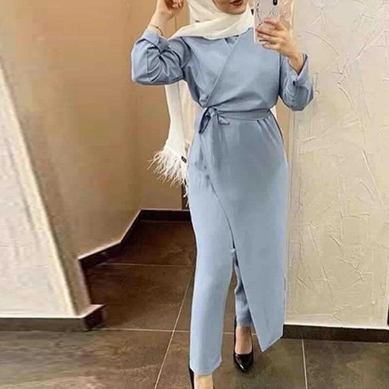 رداء ستان عباية دبي مسلم موضة بذلة فستان تركيا الإسلام الملابس فساتين الأفريقية للنساء الرجال Musulim