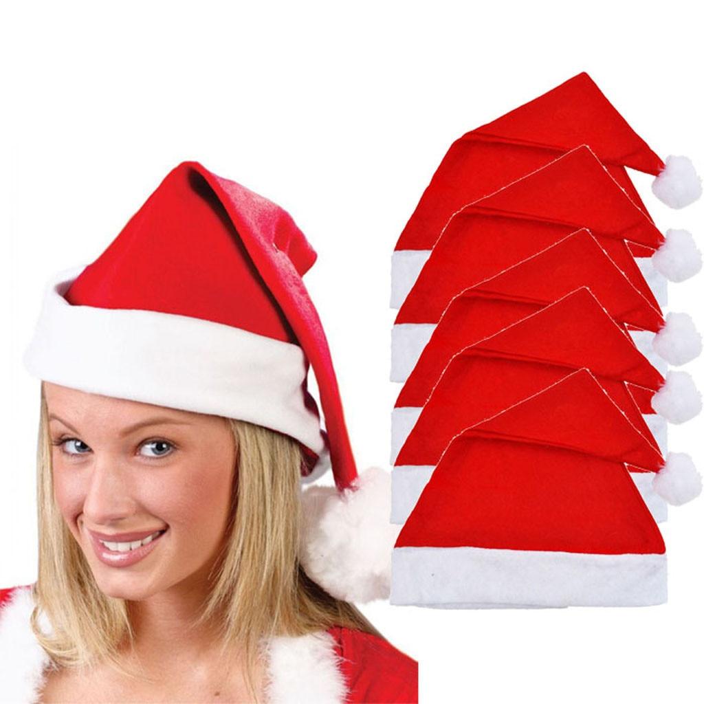 Gorros de invierno de 5 uds. De Sagace, gorro de rojo de Navidad Unisex para adultos, sombrero de novedad para Festival de Navidad, gorros de fiesta, Feliz Navidad, vacaciones