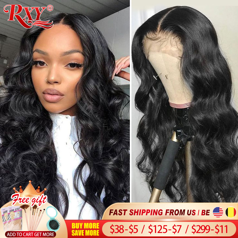 RXY Body Wave Lace Front Wig 250 Density Lace Front Human Hair Wigs Remy Closure Wig 360 Lace Fronta