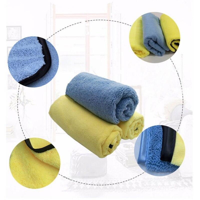 Автомобильная уход полировка супер толстая плюшевая ткань из микрофибры для