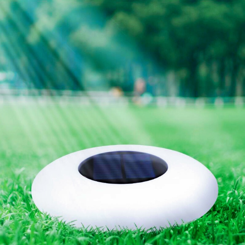 Outdoor Indoor IP68 Glowing Solar Powered Underwater UFO RGB Floating Pool Decorated Rotation Plastic LED Lighting for Garden