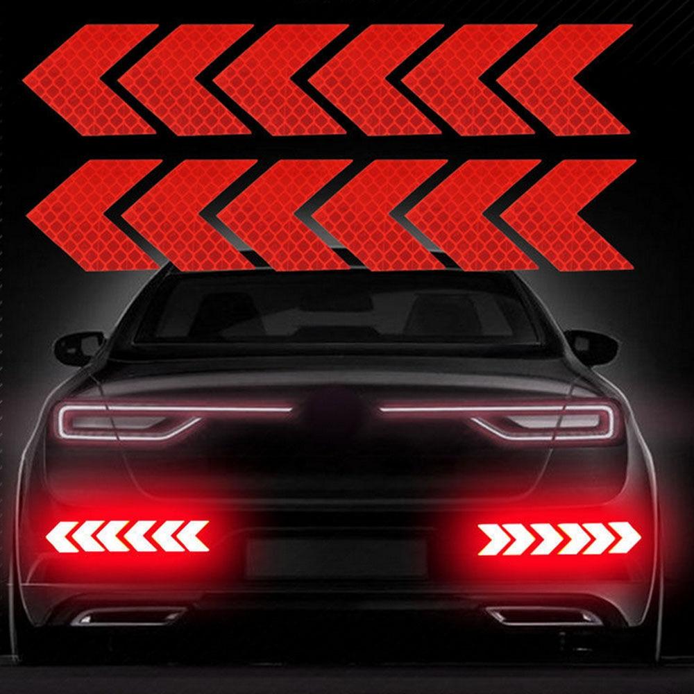 Reflective Arrow Sign Tape Warning Safety Sticker For Truck Car Bumper Trunk Reflector Car Sticker Hazard Tape For Car Styling