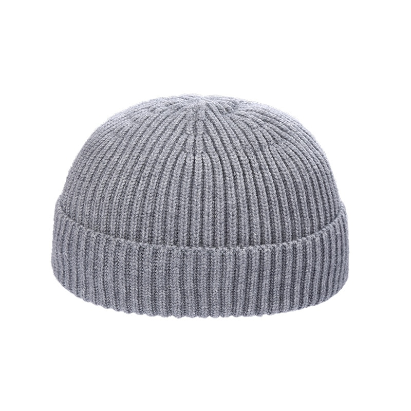 Вязаный берет, шапка, мужская шапка, шапка, зимняя свободная шапка дыня, Рыбацкая шапка