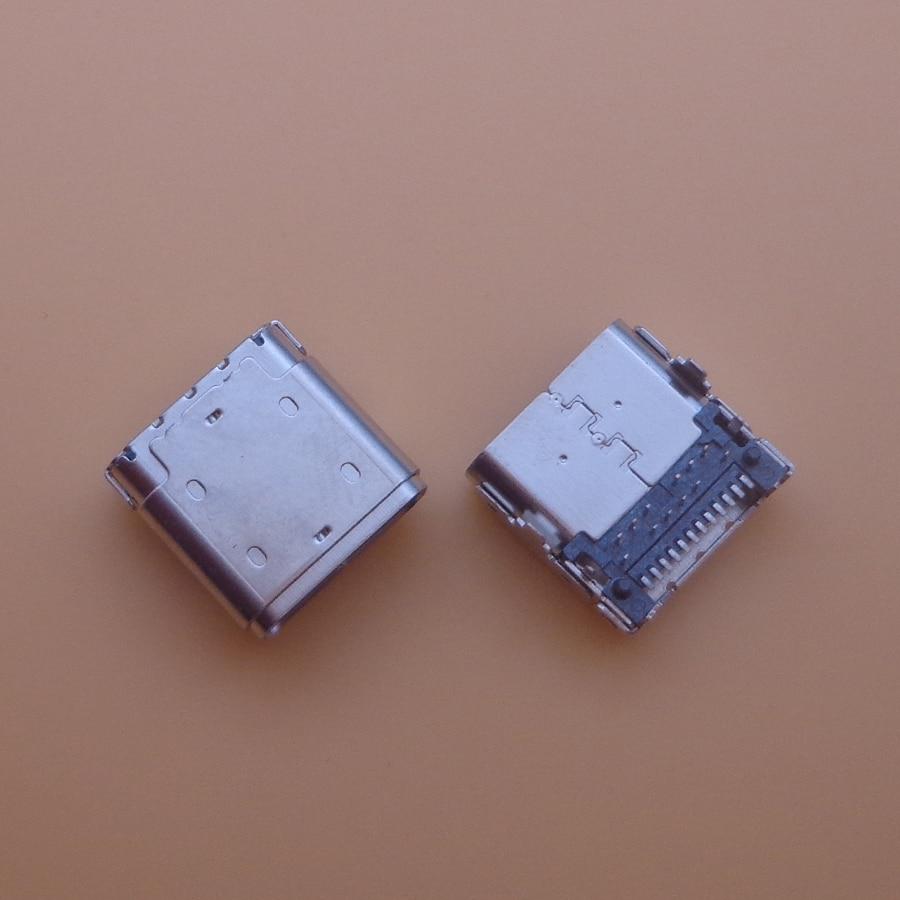 2 قطعة نوع جديد-C USB شحن ميناء تيار مستمر جاك لينوفو Chromebook C330 81HY 81HY0001US