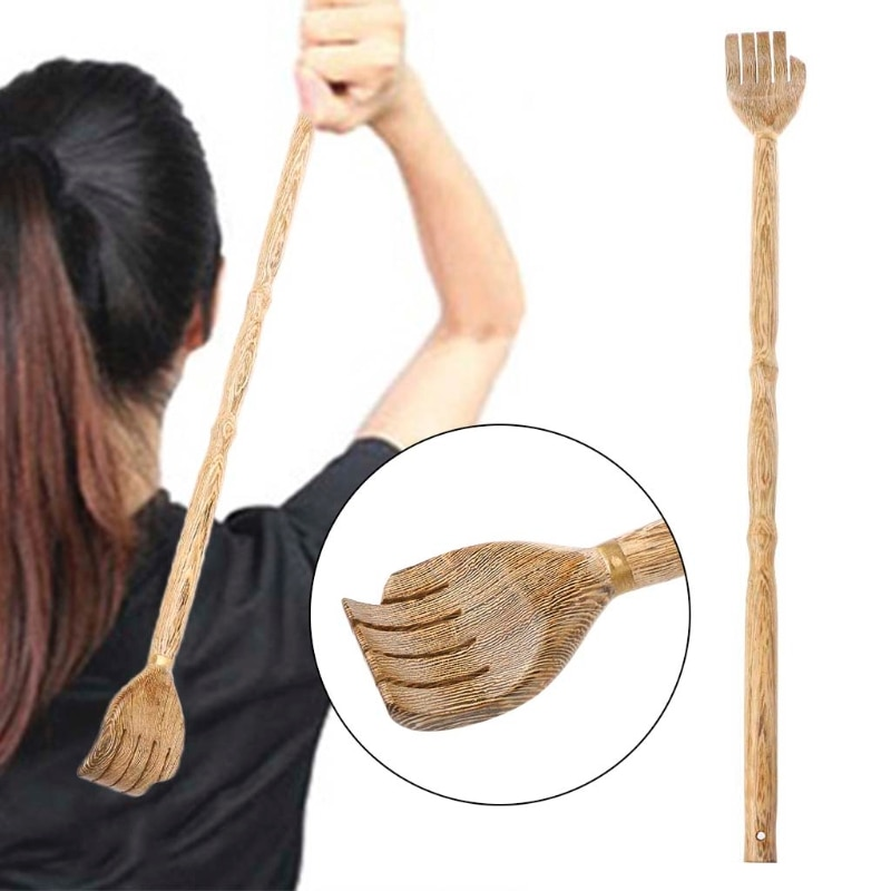 Wooden Back Scratcher Self-Massage Body Massage Hackle Itch Stick Health Product