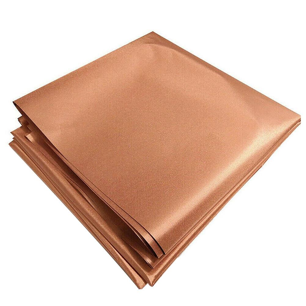 Bloqueo de radiación RFID DIY tela de blindaje de cobre multiusos Anti magnético a prueba de arañazos RF señales reducir Durable
