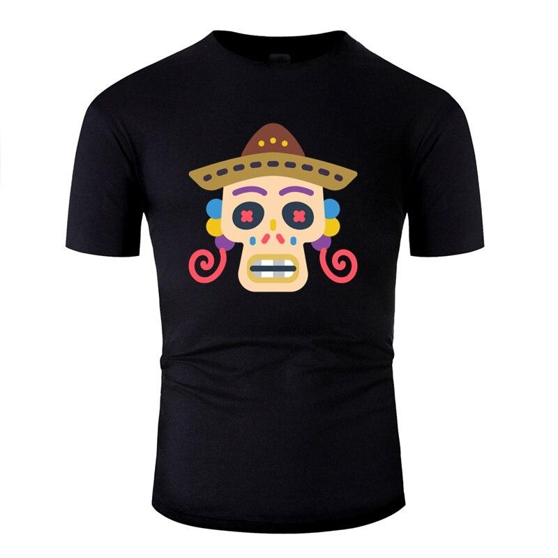 Impressão mexicana crânio de açúcar mariachi dia dos mortos camiseta homem famoso adulto camisetas 2020 manga curta
