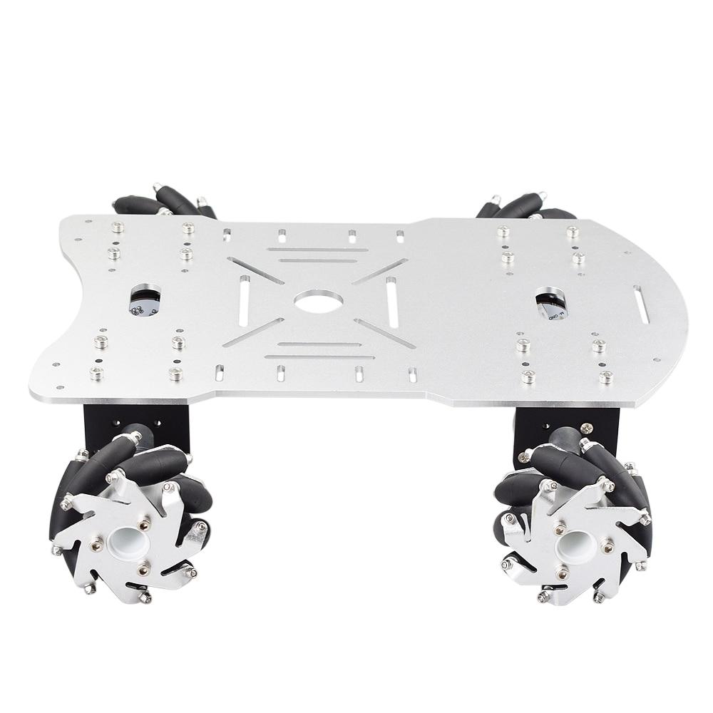 Metal Mecanum Wheel Arduino Robot Car Kit with 4pcs DC 12V Speed Encoder Motor, 4WD Robot Platform Chassis Maximum Load 15Kg enlarge