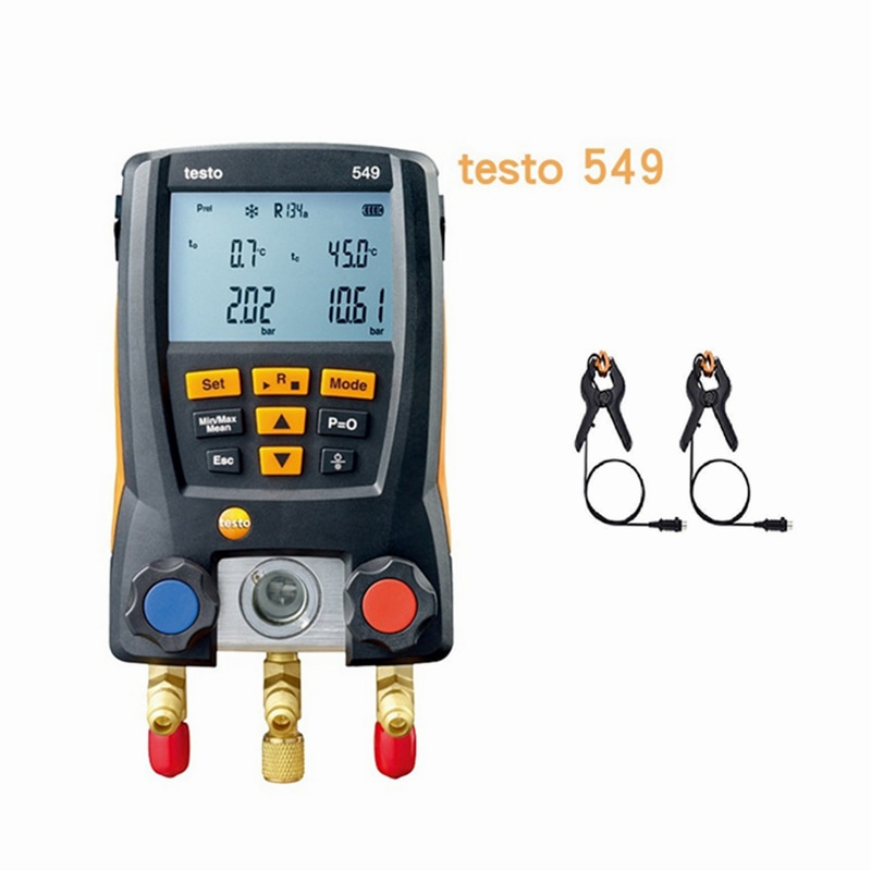 Réfrigération Testo 549 avec pince de température mètre 0560 0550 collecteur numérique cvc jauge système Kit
