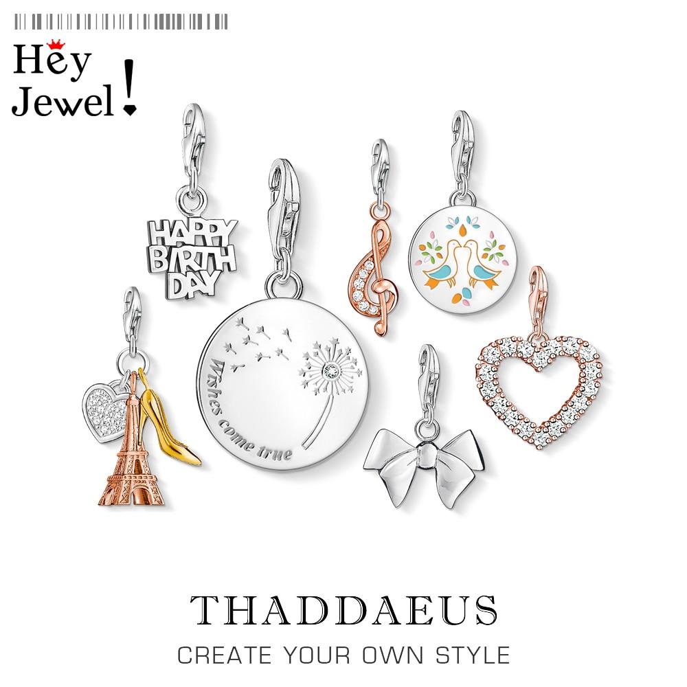 Dandelion Wish Come True Charm Pendants For Women Lucky DIY 925 Silver Jewelry Fit Bracelet Necklace Phone Chain Keyring Pendant
