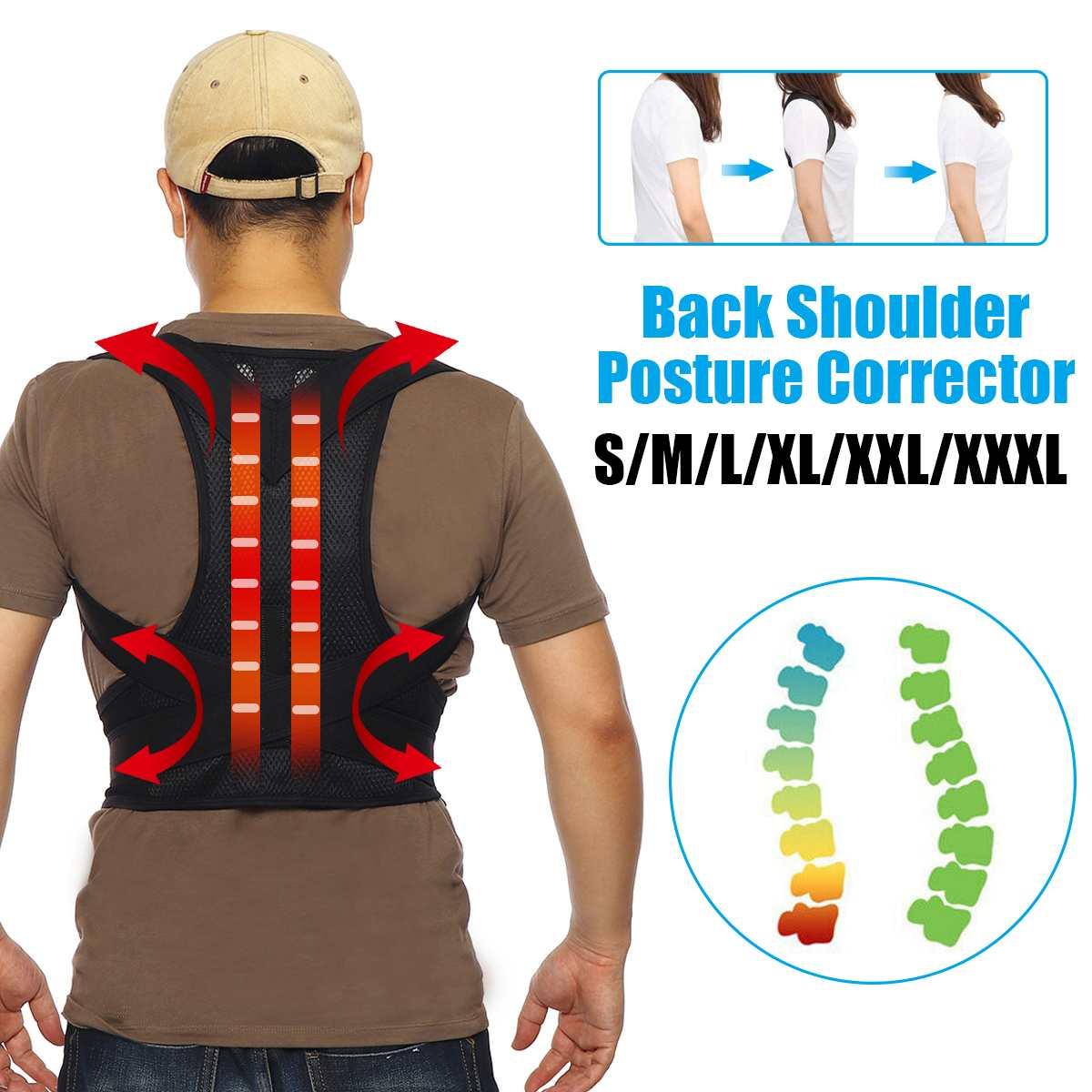 Corrector de postura de espalda ajustable clavícula columna vertebral hombro apoyo Lumbar cinturón corrección de postura houlder Lumbar Brace