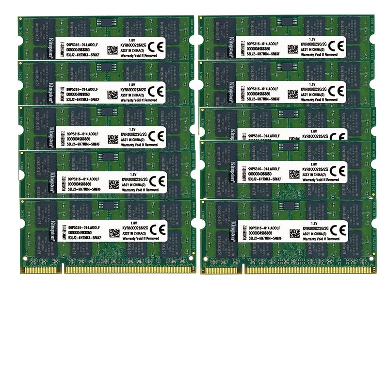 (10pcs2gb) ddr2 800mhz pc2-6400 DIMM دفتر ذاكرة الوصول العشوائي 200-pins 1.8v غير ECC ، وتجارة الجملة/حجم 2R X 8 غير ECC
