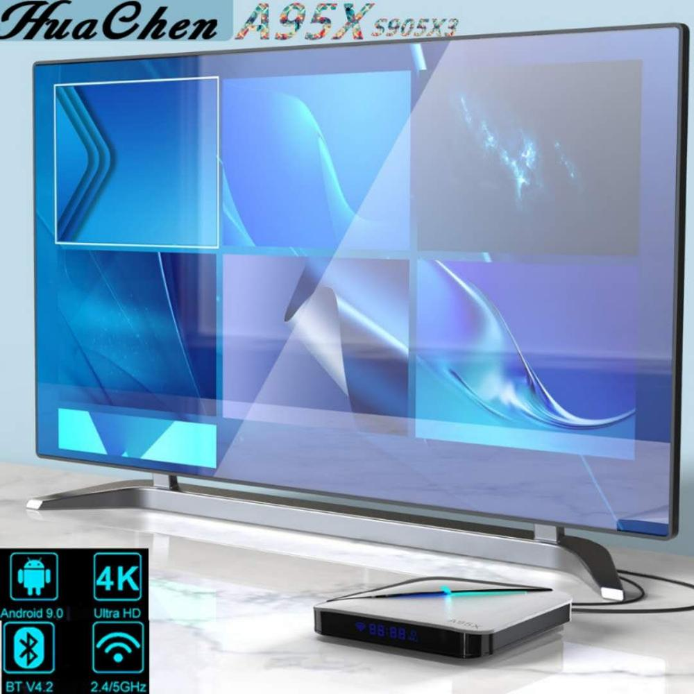 TV box A95X F3, Android 9,0, con luz RGB, Amlogic S905X3, 8k,...
