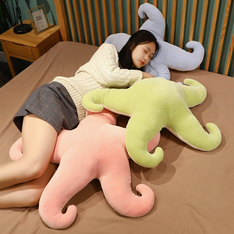 Stripe Starfish Plush Toy Soft Stuffed Cartoon Ocean Animals Sea Star Doll Nap Pillow Cushion Christmas Gift Bedroom Floor Mats