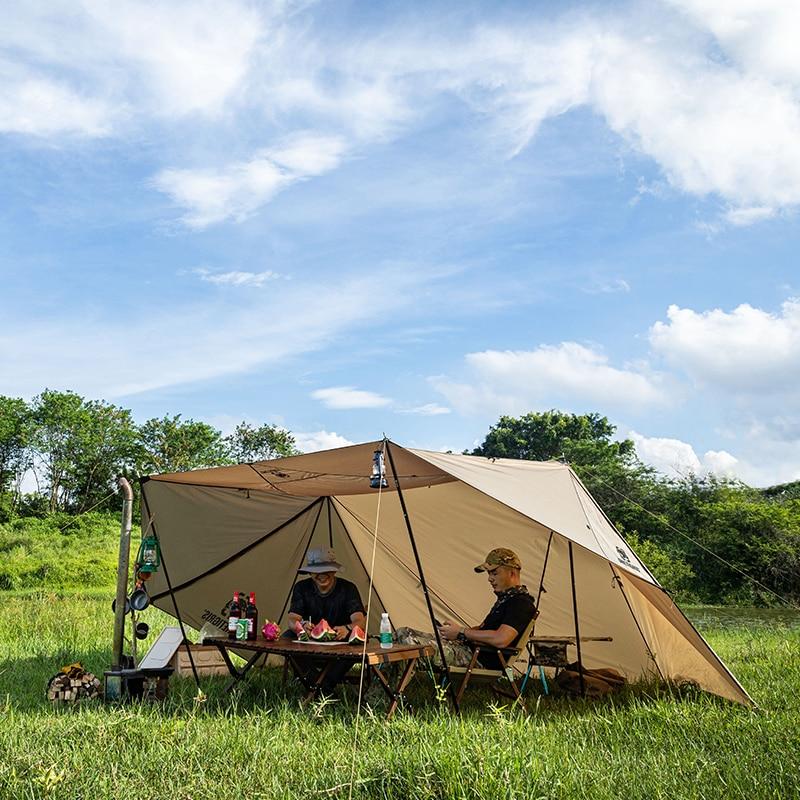 OneTigris ROC درع Bushcraft خيمة شكلي التخييم المأوى مع أقطاب خيمة للشاطئ للتراجع Backcountry