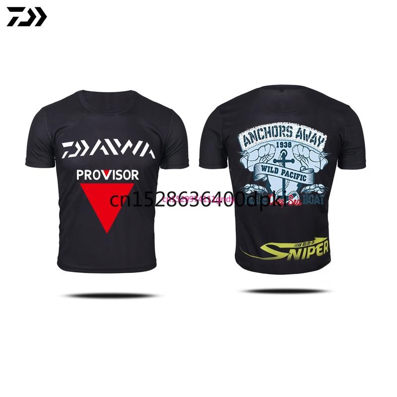 2021 New DAIWA DAWA Fishing Clothing Summer Short Sleeve Deep Sea Sunscreen Breathable Clothes Anti-UV Ultrathin Fishing Shirt