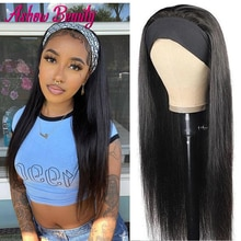 Headband Wig Human Hair Wigs For Black Women Straight Headband Wigs Glueless 28 Inch Brazilian Hair