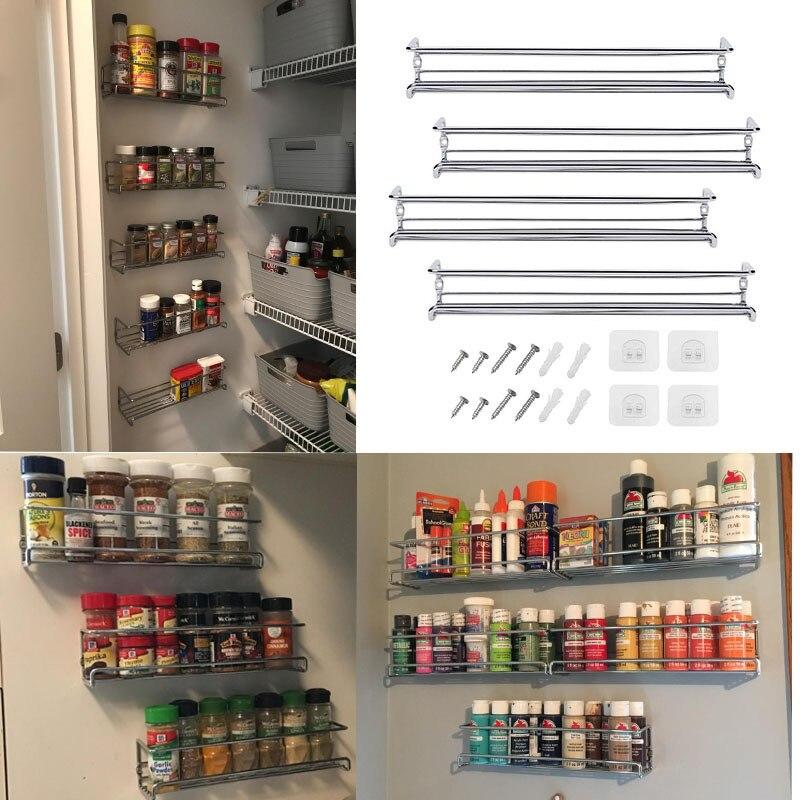 Organisateur de support à épices mural pour armoire étagère à épices assaisonnement organisateur garde-manger organisateur de porte stockage dépices