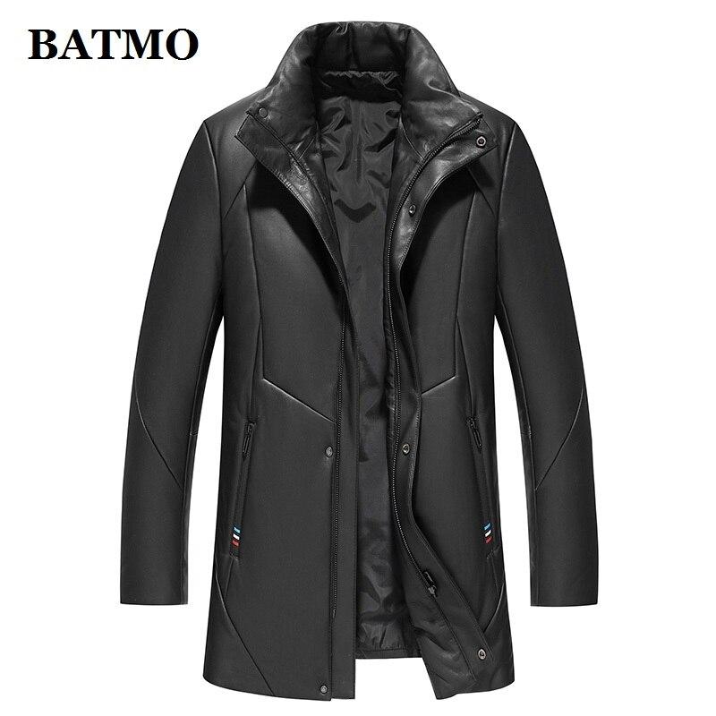 BATMO real leather jackets men,95% white duck down jacket men,warm jackets,plus-size M-5XL 9022