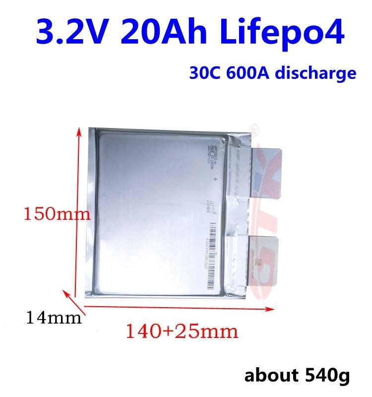 Batería Lifepo4 de 3,2 V y 20 AH de 3,2 V y 20Ah para batería de 12v y 24 v, batería de arranque para coche