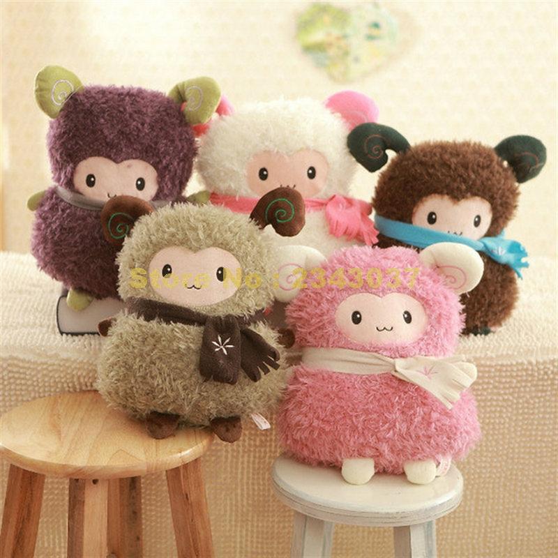 scarf shawl sheep goat hand warmer  pillow cushion plush doll stuffed 35cm Toy